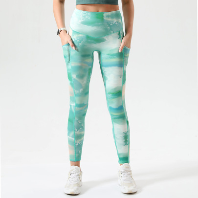 High-waist Stretch Hip-lifting Tight Yoga Pants Nihaostyles Wholesale Clothing NSOUX85024