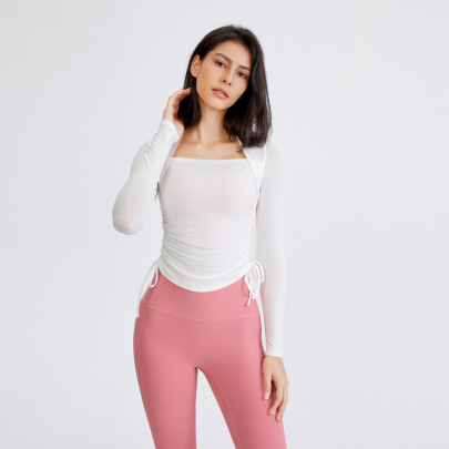 Tight Stretch Quick-drying Long-sleeved Sports T-shirt Nihaostyles Wholesale Clothing NSFAN85036