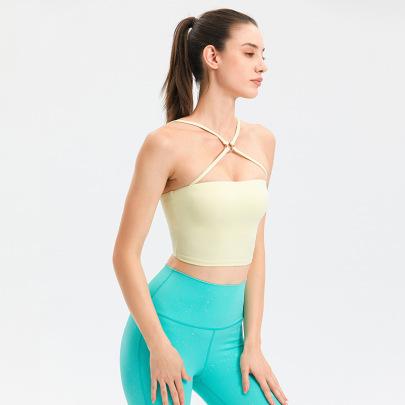 Cross Sling Sports Fitness Yoga Underwear Nihaostyles Wholesale Clothing NSFAN85045
