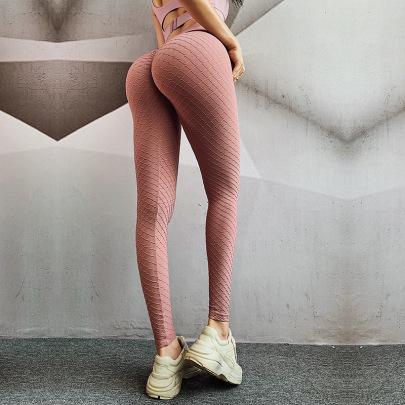 Seamless High Stretch Diamond Three-dimensional Yoga Pants Nihaostyles Clothing Wholesale NSXER85014