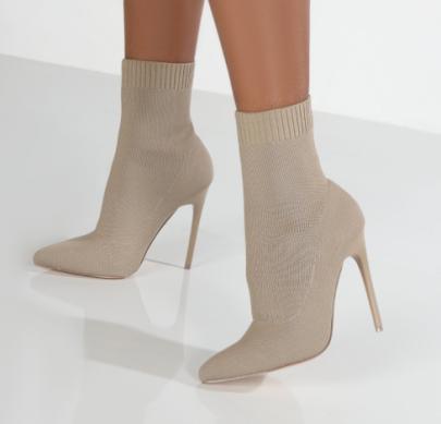 Pointed Toe Knit Stiletto Boots Nihaostyles Clothing Wholesale NSYUS85059