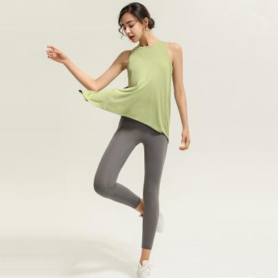 Solid Color Loose Yoga Vest Nihaostyles Clothing Wholesale NSJLF85150