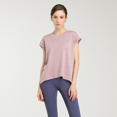 Solid Color Quick-drying High Stretch Yoga T-shirt Nihaostyles Clothing Wholesale NSJLF85151