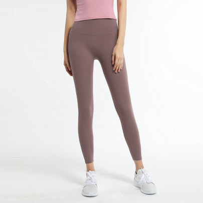 Solid Color High Stretch Yoga Pants Nihaostyles Clothing Wholesale NSJLF85152