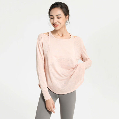 Loose Quick-drying Long-sleeved Yoga Top Nihaostyles Clothing Wholesale NSJLF85153