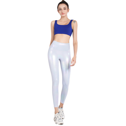 Shiny Surface Elastic Hip-lifting Yoga Pants Nihaostyles Clothing Wholesale NSJLF85169