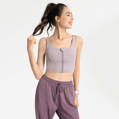 High-strength Front Zipper Yoga Underwear Nihaostyles Clothing Wholesale NSJLF85182