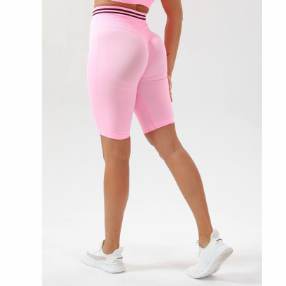 Hip-lifting High-elastic Receiving Waist  Yoga Five-point Shorts Nihaostyles Wholesale Clothing NSOUX85191