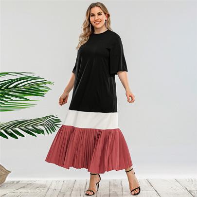 Stitching Plus Size Loose Ethnic Style Dress Nihaostyles Clothing Wholesale NSWCJ85255