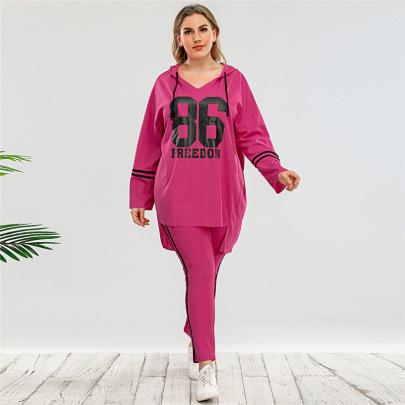Long-sleeved Loose Digital Printing Hoodie Pants Two-piece Set Nihaostyles Clothing Wholesale NSWCJ85258