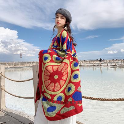 Ethnic Style Cashmere Oversize Shawl Nihaostyles Clothing Wholesale NSCM85279