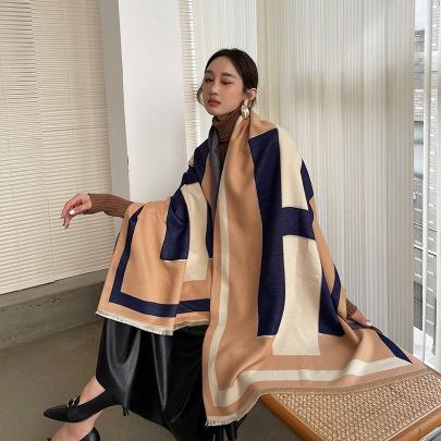 Plaid Thickened Tassel Shawl Nihaostyles Clothing Wholesale NSCM85291