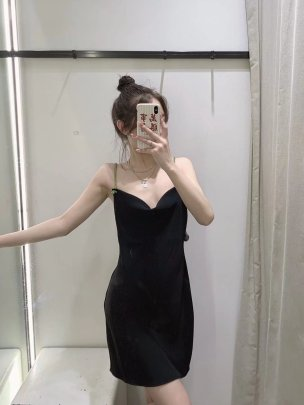 Sexy Backless Artificial Jewelry Sling Dress Nihaostyles Wholesale Clothing NSAM85358