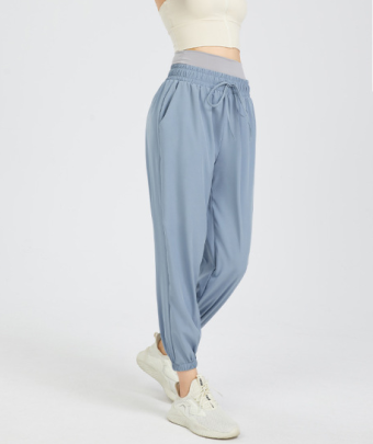 High Waist Quick-drying Tied Feet Fitness Harem Pants Nihaostyles Wholesale Clothing NSFAN85047