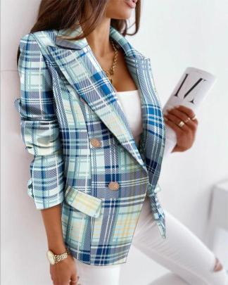 Long-sleeved Double-breasted Printed Suit Jacket Nihaostyles Clothing Wholesale NSOUY85468