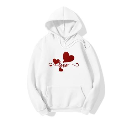 Romantic Love Printed Long-sleeved Fleece Hoodie Nihaostyles Clothing Wholesale NSYAY85467