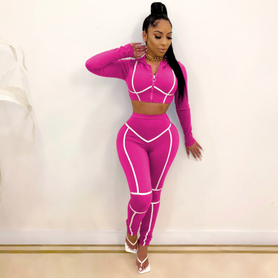 Long-sleeved Jacket Trousers Two-piece Set Nihaostyles Clothing Wholesale NSALI85442