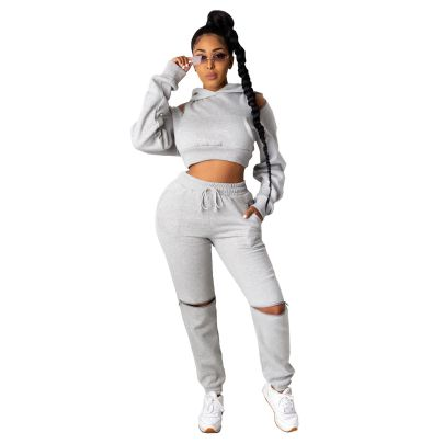 Zipper Stitching Sweatshirt Trousers Two-piece Set Nihaostyles Clothing Wholesale NSALI85448