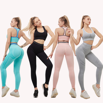 High Stretch Hip-lifting Waist Yoga Suit Nihaostyles Clothing Wholesale NSYS85449