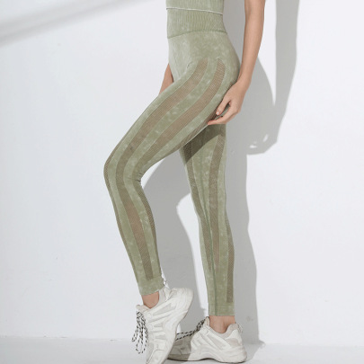 High Stretch High Waist Hip-lifting Yoga Leggings Nihaostyles Clothing Wholesale NSXIN85452