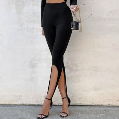 Solid Color Stepped Pit Pants Nihaostyles Clothing Wholesale NSHML85488