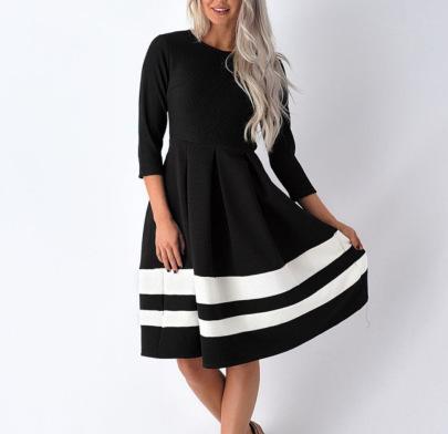 Long Sleeve Striped Dress Nihaostyles Clothing Wholesale NSHML85498