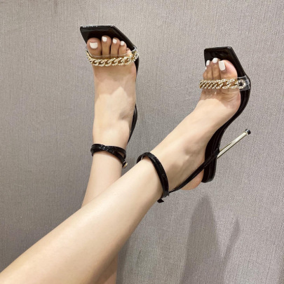 Women's Square Toe Stiletto High Heel Sandals Nihaostyles Wholesale Clothing NSSO81731