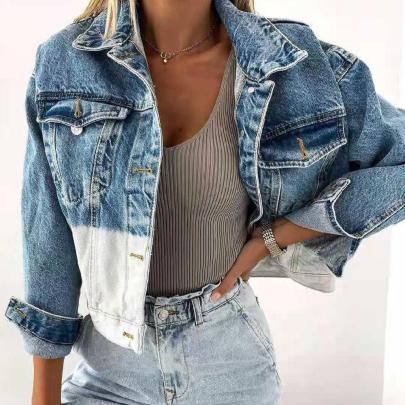 Women's Lapel Loose Denim Jacket Coat Nihaostyles Wholesale Clothing NSJRM81748