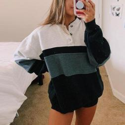 Women's Round Neck Loose Plus Velvet Pullover Sweatershirt Nihaostyles Wholesale Clothing NSJRM81753