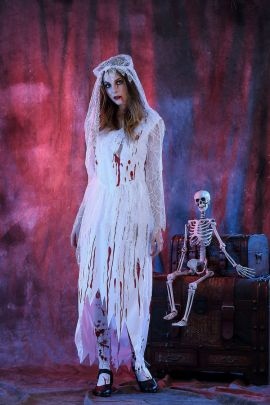 Halloween Cosplay Bloody Ghost Bride Costume Nihaostyles Wholesale Halloween Costumes NSQHM81792