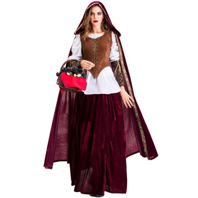 Halloween Cosplay Little Red Riding Hood  Vampire Costume Nihaostyles Wholesale Halloween Costumes NSQHM81801