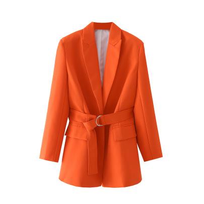 Women's Slim Belt Mid-length Suit Coat Nihaostyles Wholesale Clothing NSAM81824