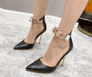 Women's Pointed Toe Metal Stiletto Sandal Nihaostyles Wholesale Clothing NSSO81723
