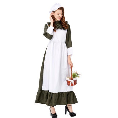 Halloween Cosplay  Maid Chef Manor Housekeeper Costume Nihaostyles Wholesale Halloween Costumes NSQHM81794