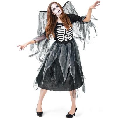 Halloween Cosplay Zombie Skeleton Print Mesh Dress Nihaostyles Wholesale Halloween Costumes NSPIS81916
