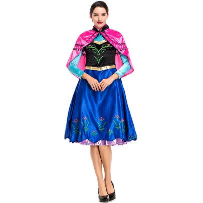 Halloween Cosplay Fairy Tale Princess Anna Ice Snow Princess Dress Costume Nihaostyles Wholesale Halloween Costumes NSPIS81922