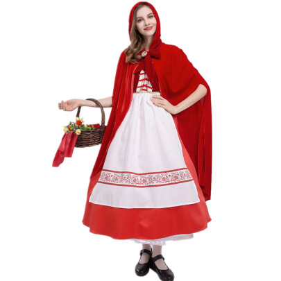 Halloween Cosplay Little Red Riding Hood Costume Nihaostyles Wholesale Halloween Costumes NSQHM81924