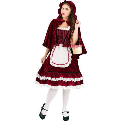 Halloween Cosplay Little Red Riding Hood Costumes Nihaostyles Wholesale Halloween Costumes NSQHM81925