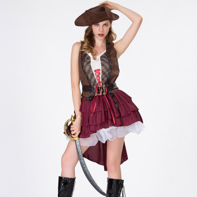 Halloween Cosplay Pirates Of The Caribbean Dress Nihaostyles Wholesale Halloween Costumes NSQHM81927