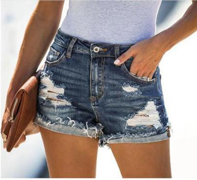 Summer Ripped Pocket Denim Shorts Nihaostyles Wholesale Clothing NSJRM81943