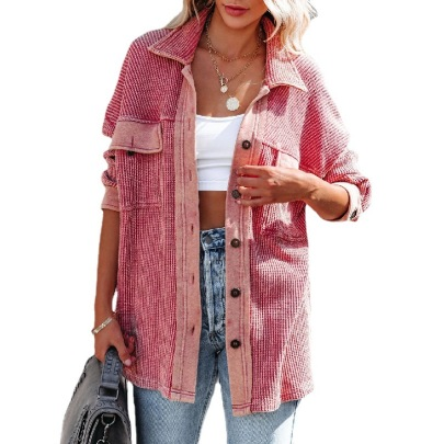 Autumn And Winter Lapel Single Row Knitted Sweater Cardigan Jacket Nihaostyles Wholesale Clothing NSJRM81951