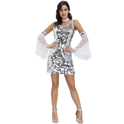 Cosplay Dancers And Singers Sequin Dress Nihaostyles Wholesale Clothing NSPIS81985