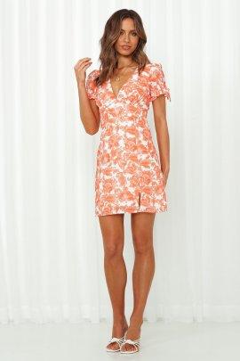 Summer Sexy V-neck Floral Print Split Dress Nihaostyles Wholesale Clothing NSJRM81855