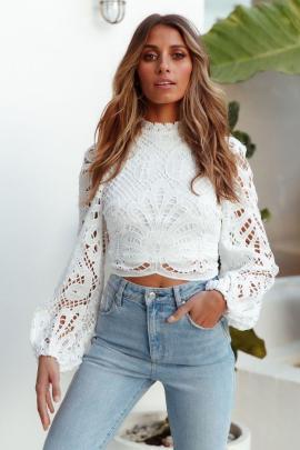Sexy Hollow Zipper Lace Shirt Nihaostyles Wholesale Clothing NSJRM81904