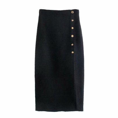 Autumn Buttoned Split Skirt Nihaostyles Wholesale Clothing NSAM81890