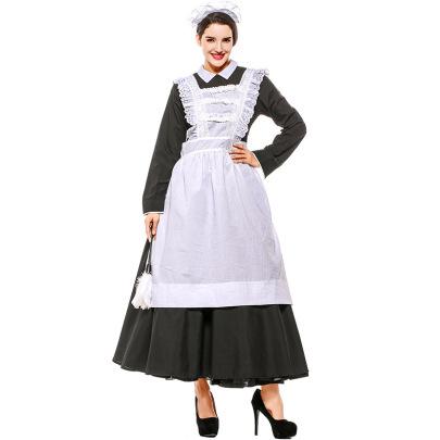 Halloween Cosplay French Manor Maid Dress Costume Nihaostyles Wholesale Halloween Costumes NSPIS82037
