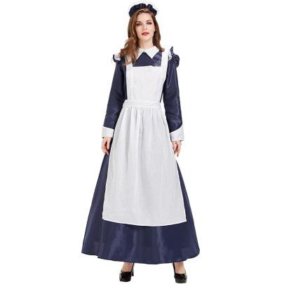 Halloween Cosplay Retro Palace Western House Maid Dress Nihaostyles Wholesale Halloween Costumes NSPIS82038