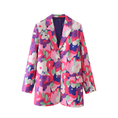Women's Printing Single-breasted Blazer Nihaostyles Wholesale Clothing NSAM82068