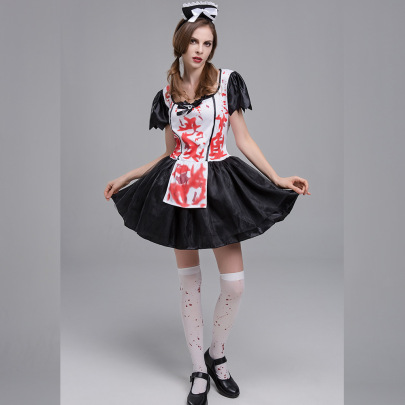 Halloween Cosplay Horror Maid Costumes Nihaostyles Wholesale Halloween Costumes NSQHM82089