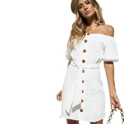 Women's Off-shoulder Wrapped Chest A-line Dress Nihaostyles Wholesale Clothing NSJRM82107